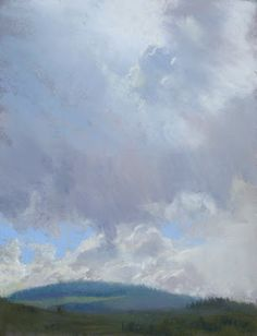 """""""Afternoon Clouds"""" a pastel by California-born contemporary artist, Bill Cone"""