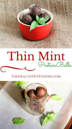 Can't wait for the holiday's to get here? Try these Thin Mint Protein Balls to get you in the holiday spirit. They are high in protein, gluten free, and can be made vegan by substituting with a vegan protein powder. These Thin Mint Protein balls are made Protein Muffins, Protein Powder Pancakes, Vegan Protein Powder, Protein Powder Recipes, Protein Bites, High Protein Snacks, High Protein Recipes, Healthy Protein, Protein Foods