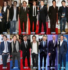 James McAvoy It's like he goes through different phases but doesn't get touched by age!!!!