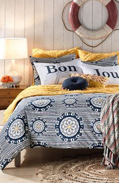 love this 'Bon Jour' bedding http://rstyle.me/n/jz4p9r9te