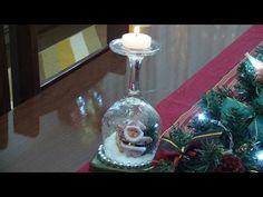 Oi gente! Hoje o DIY é de natal, vou ensinar a como fazer esse castiçal de taças super fofo,e você só precisa de taças de vidro,velas e enfeites de natal! Es...