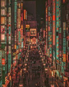 Nightlife in Tokyo's Streets by Yoshito Hasaka