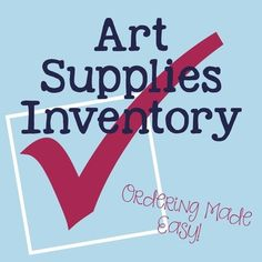 Art Supplies Inventory $1
