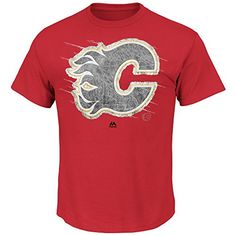 NHL Calgary Flames Men's Pond Hockey Tee, Red, XX-Large