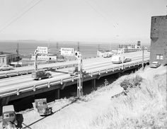 North end of Alaskan Way Viaduct, 1959