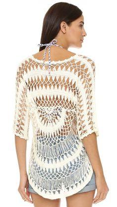 Wildfox A Bikini a Day Mermaid Crochet Tunic