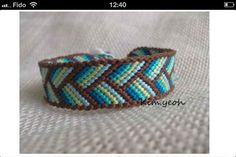 Find a lot of patterns to do bracelets like this one on friendship-bracelets.net     this one is no.56263