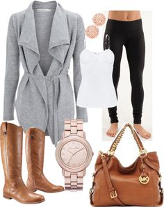 """casual fall outfit"" by amcnei on Polyvore  I have all of this in my closet, and didn't even think to put it together like this!"