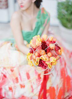 warm toned bouquet -