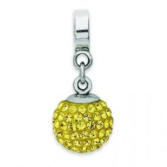 Sterling Silver Reflections Nov Swarovski Elements Ball Dangle Bead