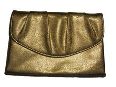 Vintage gold envelope clutch purse