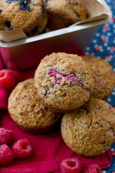 Bran has never tested better! These are the best whole wheat bran muffins out there! Not only are they low in fat, but they're low in sugar too. A hearty & nutritious way to start your day!