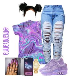 """""""Deserve Better - Kehlani """" by mamiyanna ❤ liked on Polyvore featuring NIKE, Michael Kors and Fremada"""
