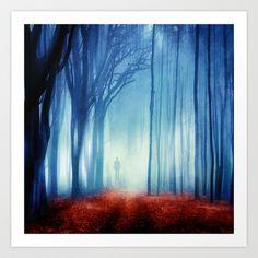 In The Mist she Was Standing Art Print by Viviana Gonzalez - $19.95