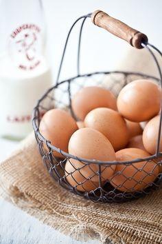 chicken eggs in a basket - Google Search