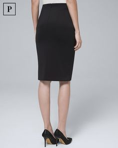 Skirts White House Black Market Black Stretch Mini Pencil Skirt Xs Clothing, Shoes & Accessories