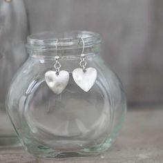 Tutti & Co Jewellery Silver Heart Drop Earrings £12 from www.lizzielane.com http://www.lizzielane.com/product/tutti-co-jewellery-silver-heart-drop-earrings/