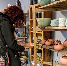 Come see Kari Zelson Robertson's ceramics. Community Art, Trail, Ceramics, Hall Pottery, Pottery, Ceramic Art, Clay Crafts, Ceramica, Porcelain