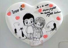 Calamita, love is, idea regalo, fimo, polimery clay, handmade, fatto a mano