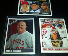 2015 Topps Heritage Chrome MIKE TROUT THC-500 #517/999 SP plus 2 cards w/TROUT  #AnaheimAngels