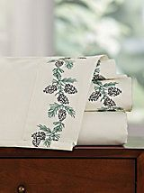 Pine Cone Embroidered Sheet Set | Blair