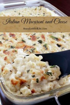 Italian Macaroni and Cheese Recipe; a delicious, extra cheesy take on traditional mac and cheese, this Italian Macaroni and Cheese recipe will have your entire family asking for seconds. Simply an outstanding Italian macaroni and cheese recipe. by kellie Italian Macaroni And Cheese Recipe, Macaroni Cheese, Mac Cheese, Grilled Mac And Cheese, Cheese Food, Cheese Dishes, Pasta Dishes, Food Dishes, Dishes Recipes