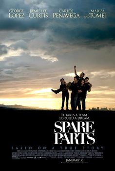 Watch Spare Parts Online Free Putlocker:Four Hispanic high school students form a robotics club. With no experience, 800 bucks, used car parts and a dream, this rag tag team goes up against the country's reigning robotics champion, MIT.