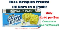 WOW! Get 16 count boxes of Rice Krispies Treats for only $2.90 shipped! Compare to $3.87 at Walmart! Great for sack lunches or an afternoon treat!  Click the link below to get all of the details ► http://www.thecouponingcouple.com/rice-krispies-treats/ #Coupons #Couponing #CouponCommunity  Visit us at http://www.thecouponingcouple.com for more great posts!