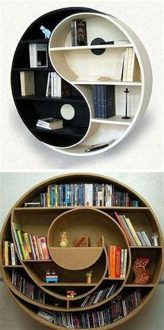 DIY Unique Cheap Bookshelves #bookshelfideas Cheap Bookshelves, Creative Bookshelves, Bookshelf Design, Bookshelf Ideas, Book Shelves, Decorating Your Home, Diy Home Decor, Room Decor, Bookshelf Inspiration