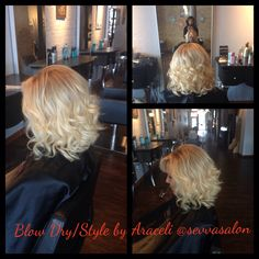 Blow Dry style with a curl added