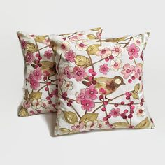 Cherry Blossoms Pillow Covers Floral Pillow by IllusionCreations