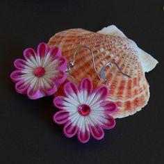 Bold Pink Earrings by Arleen on DeviantArt