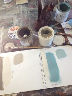 ...where we make color books....using our favorite Annie Sloan Chalk Paint™