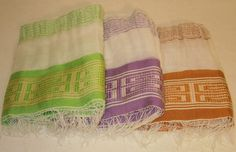 NEW ARRIVAL...Women's 100% Handwoven Sheer Ethiopian Snow White Cotton Scarf with Colored (and Cream) Decorative Borders by EthioStylenet on ETSY.com