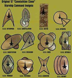 Star Trek: The Original 12 Starship Insignia Star Trek Logo, Star Trek Tv, Star Wars, Star Trek Ships, Alien Nation, Science Fiction, Star Trek Original Series, Star Trek Starships, Starship Enterprise