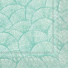 IHR Lignes Turquoise White Geometric Printed 3-Ply Paper Luncheon Napkins Wholesale L604842