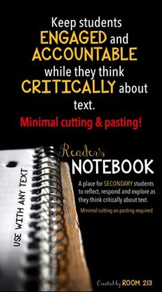 Do you like the idea of using a reader's notebook, but don't have time for all of the cutting and pasting?  This one might be for you!