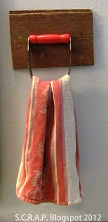 ~ S.C.R.A.P. ~ Scraps Creatively Reused and Recycled Art Projects: Pastry Blender turned towel holder