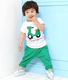 Aliexpress.com : Buy Children Clothing Boys & Girls Clothing Sets 2pcs Suits Cartoon Motor Short Sleeve T Shirts + Ninth Pants, Free Shipping KS002 from Reliable Boys & Girls Clothing Sets suppliers on Missing You