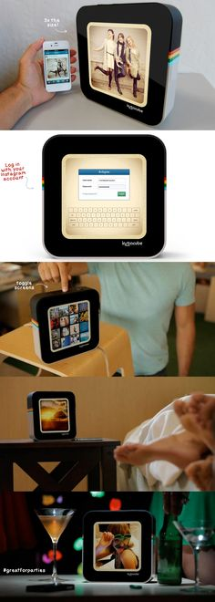 Instagram digital picture frame. Great for the home. Syncs wirelessly with your instagram account! | techlovedesign.com