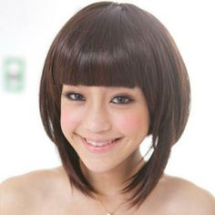 Short Full Wig - Straight  Coffee - One Size