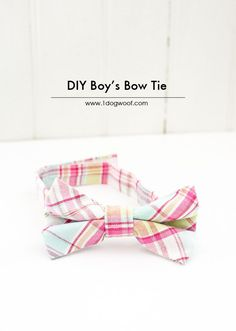 This little boy's bow tie is so easy to make and too cute! | www.1dogwoof.com