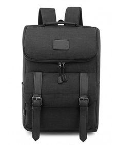e368b9005b9b Lightweight Backpack backpack - Black 1 - C012LRJ6XO1. Black BackpackLaptop  BackpackCanvas BackpackVintage BackpacksLightweight BackpackTravel ...