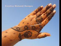 YouTube rose khaleeji henna mehndi design