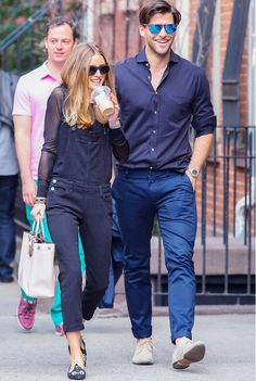 The always adorable and stylish Olivia Palermo with Johannes Huebl