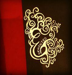 Enchanted E #calligraphy #liquidgoldleaf #goldleafpaint #golddetail #enchanted #intricate