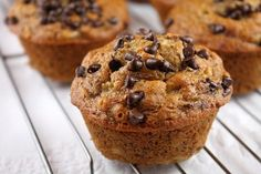This recipe for honey sweetened low fat banana chocolate chip muffins includes nutritional information and Weight Watchers points.