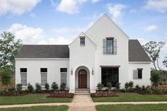 residential design and architecture in Lafayette Louisiana and all of Louisiana and the South Modern Exterior, Exterior Design, Georgian Style Homes, Tudor Style, Front Porch Makeover, Modern Farmhouse Plans, Cottage Style Homes, Residential Interior Design, Design Seeds