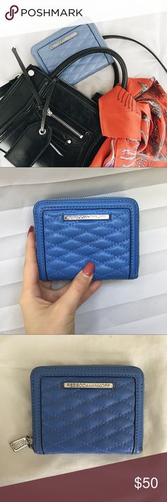 Rebecca Minkoff Zippy Wallet Rebecca Minkoff   GREAT CONDITION! Perfect for small purses.   - silver harder  - ZIP closure  - 5 card slots  - Quilted detail  - Small mark on back. Rebecca Minkoff Bags Wallets