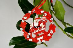 Santa in Sleigh Decorative Hanging Decoration x 1 Piece! Xoxo  http://theribbonroom.co.uk/88050-santa-sleigh-christmas-decoration.html